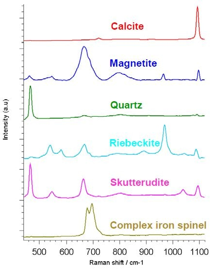 Reference spectra derived from the StreamLine Raman image
