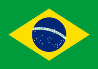 The national flag of Brazil.