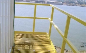 Fiberglass Grating and Handrails for Safety, Reduced Weight and Low-Maintenance on Offshore Platforms