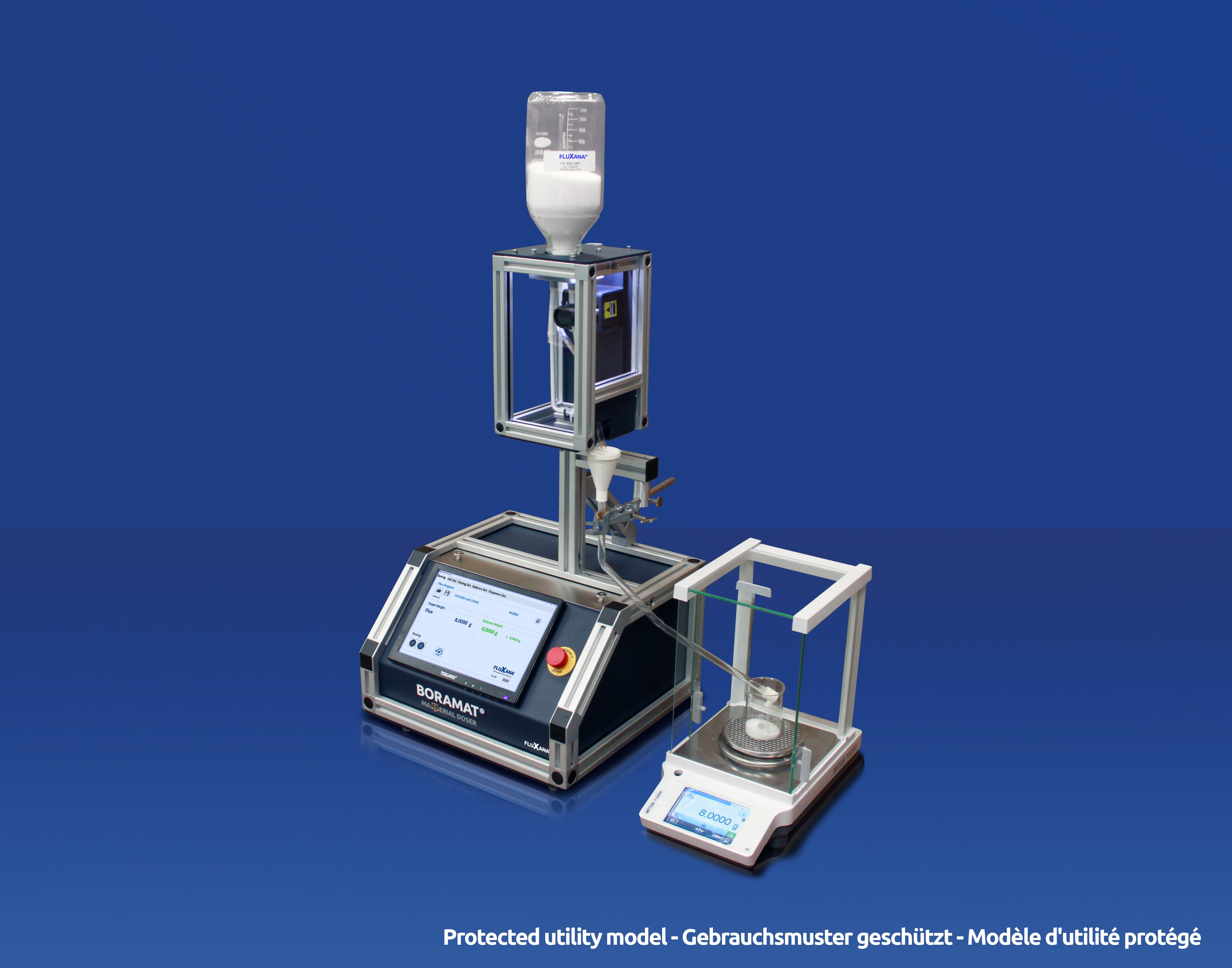 Weighing Flux for XRF Analysis - BORAMAT Material Doser