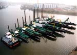 Stationary dredges form Dredge Technology Corporation.