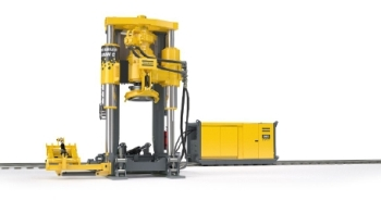 Rail Mounted Rail Boring Machine – Robbins 44RH C Rail Raise Boring Machine from Atlas Copco