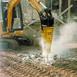 Small hydraulic breakers from Rockbreakers (UK) Ltd