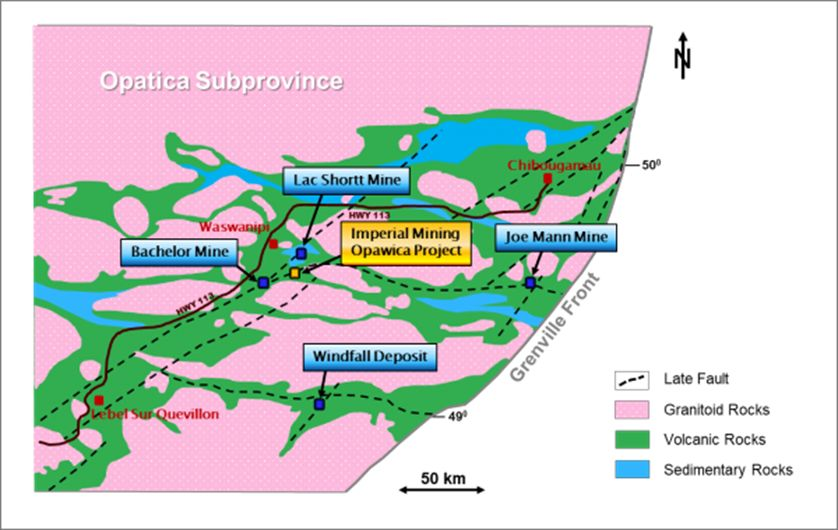 Imperial Mining Completes Data Compilation for Opawica Gold Project