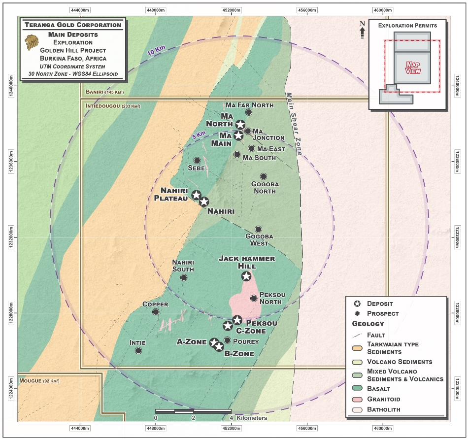 Teranga Gold Announces Results from Ongoing Drill Program at Golden Hill