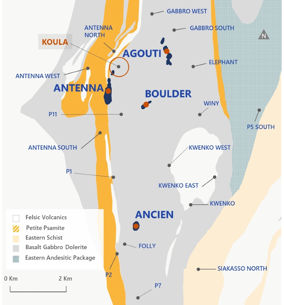 Roxgold Intersects 109 GPT Over 4m and 49.3 GPT Over 9m at Koula Prospect in Séguéla Gold Project