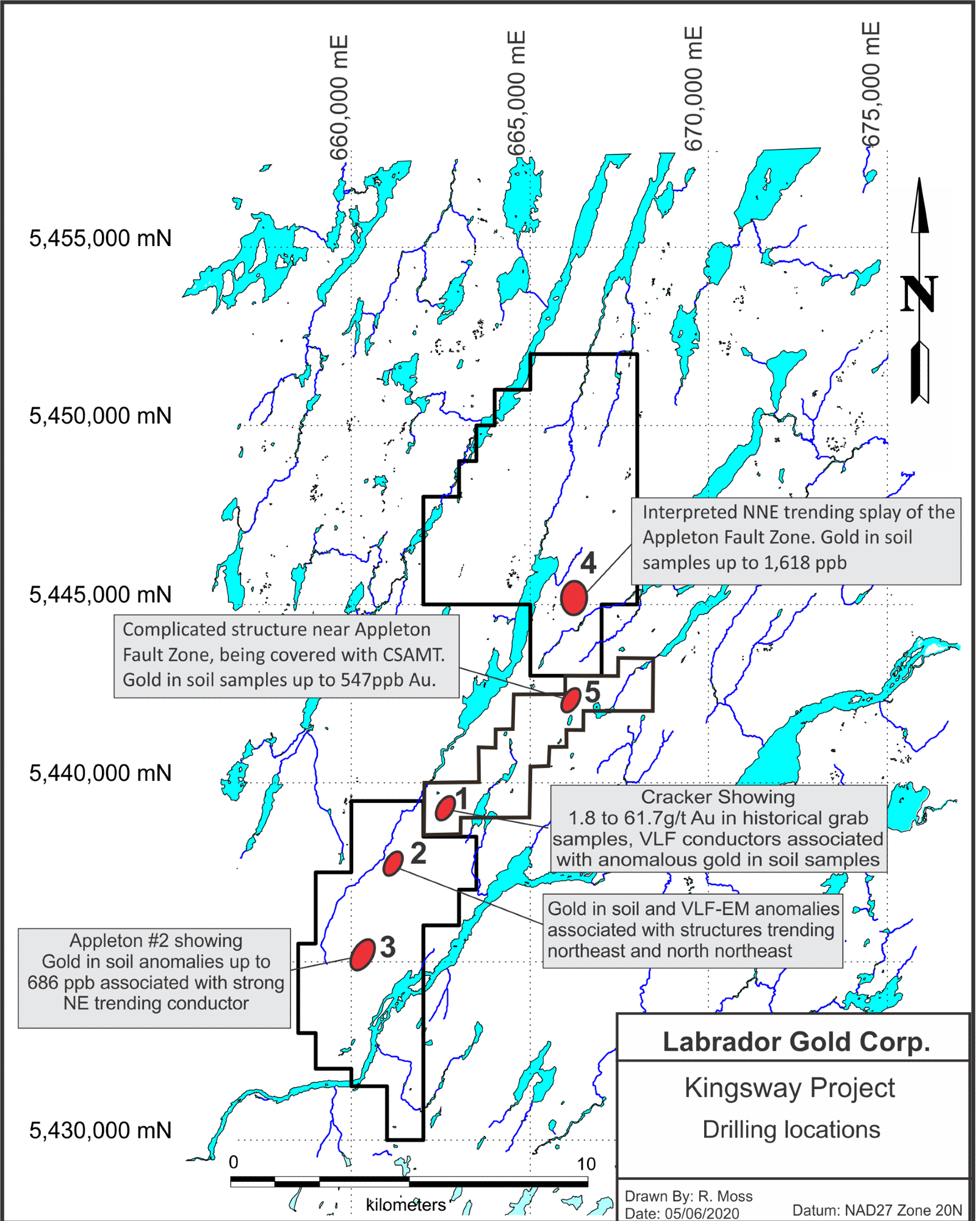 Drilling Commences at Labrador Gold's Kingsway Property
