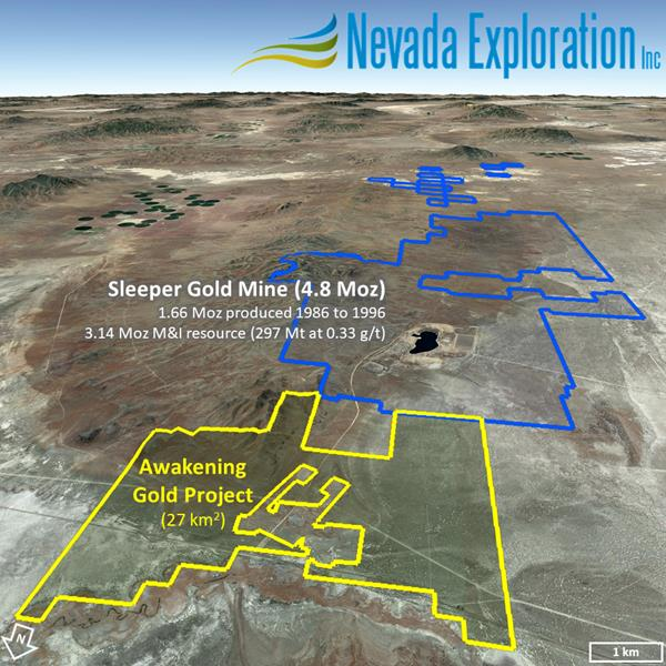 Nevada Exploration Increases Land Holdings at its Awakening Gold Project