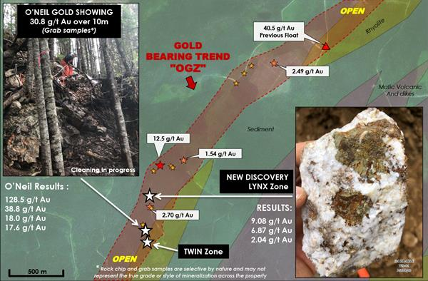Puma Exploration Discovers New Gold-Bearing Zone at its Williams Brook Property