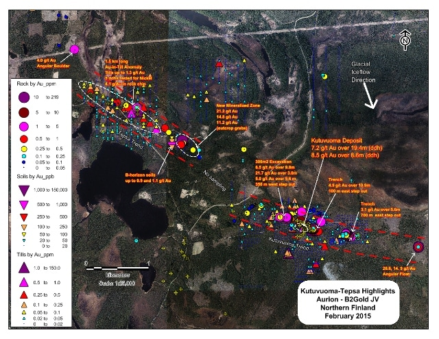 Aurion and B2Gold Initiate 2016 Field Exploration Program in Northern Finland