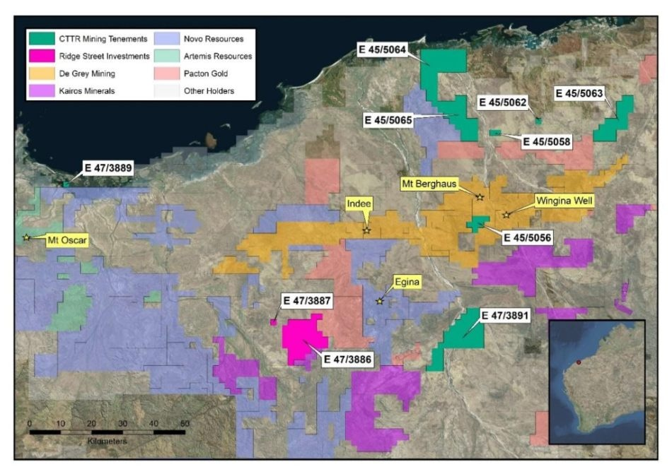 Monterey Minerals Signs Letter of Intent to Purchase CTTR Mining Tenements Pty Ltd.