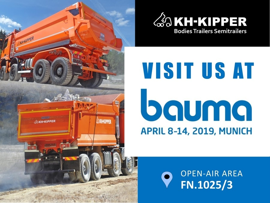KH-KIPPER is Taking Part in Bauma