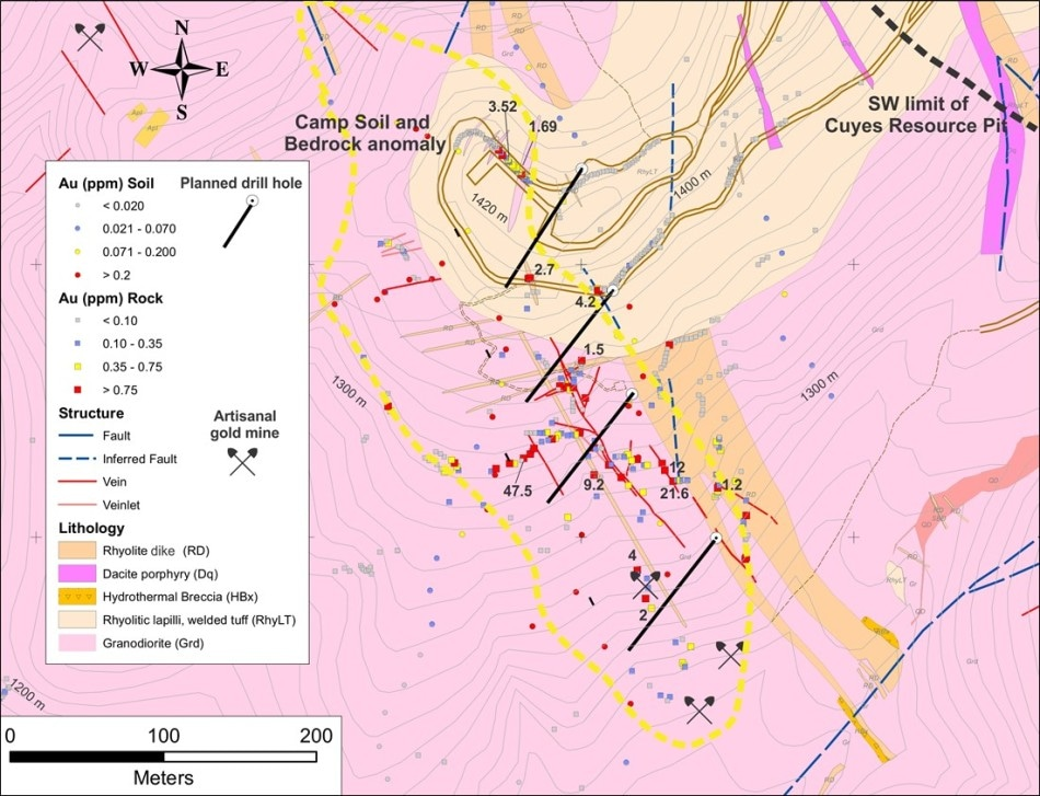 Luminex Resources Initiates Diamond Drilling Program at the Condor Camp Zone