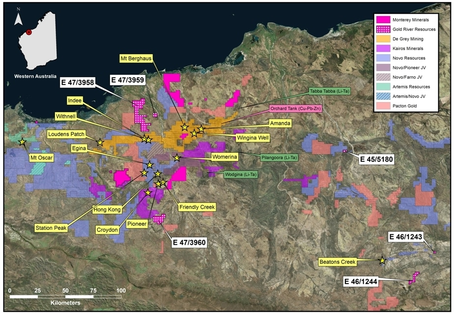 Monterey Signs Letter of Intent to Purchase Gold River Resources Pty Ltd