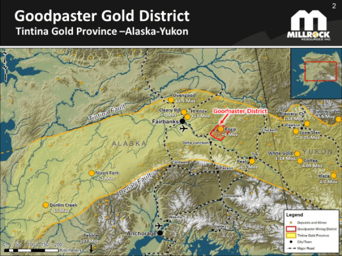 Millrock Provides Update on Progress at West Pogo Block, Goodpaster Gold Project
