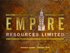 Empire Resources Discovers Nickel Copper Outcrop at Yuinmery