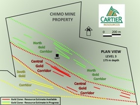Cartier Announces Recommencement of Phase III Drilling at Chimo Mine