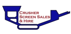 Crusher Screen Sales & Hire logo.